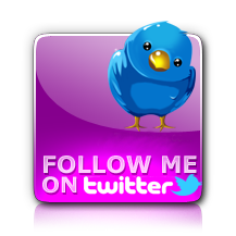 Fucsia Button for Twitter